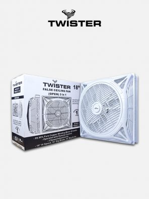 Twister False ceiling Fan 18 inch Open