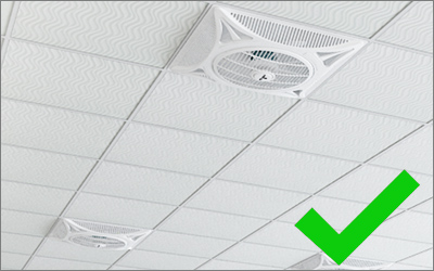 Twister false ceiling fans